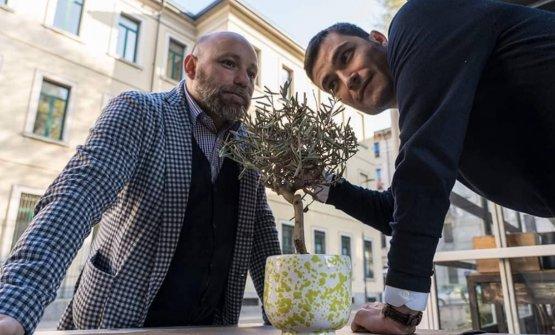 Gianni Tortora e Angelo Fusillo, rispettivamente maître/sommelier e patron di Olio