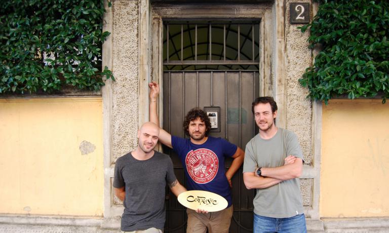 Da sinistra: Thomas Piras, Matias Perdomo e Simon