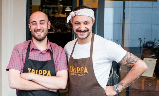 Pietro Caroli e Diego Rossi, aprirono Trippail 20 giugno 2015 in via Vasari 1, quartiere Porta Romana a Milano