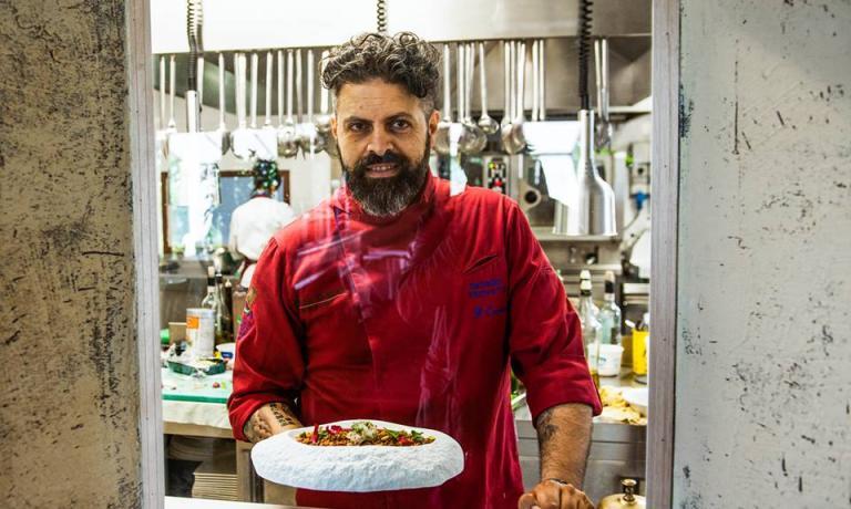 Giorgio Trovato, chef toscano specialista nella cucina della canapa