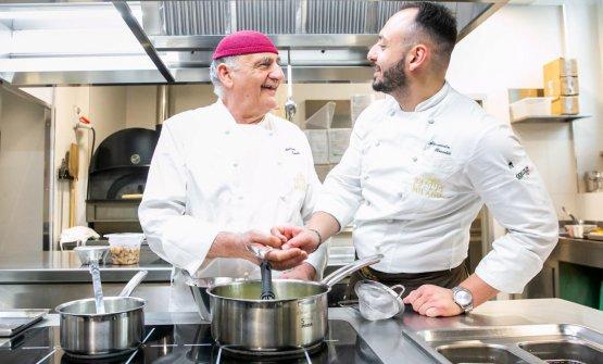 Tubelli con il resident chef di Identità Golose Milano, Alessandro Rinaldi