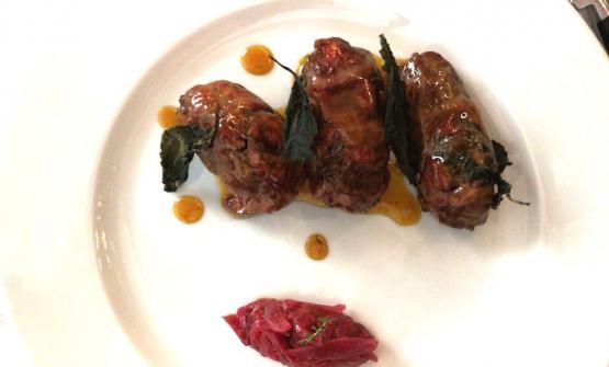 Turcinieddhi e chutney di arancia e cipolla rossa del ristorante Primo di via 47 Reggimento Fanteria7, Lecce, telefono+39.0832.243802