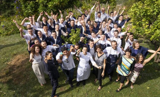 The entire team of Mirazur is at home since March 14th. The French government, through a sort of redundancy fund, pays 84% of the staff's salary, but Colagreco is committed to contribute to that