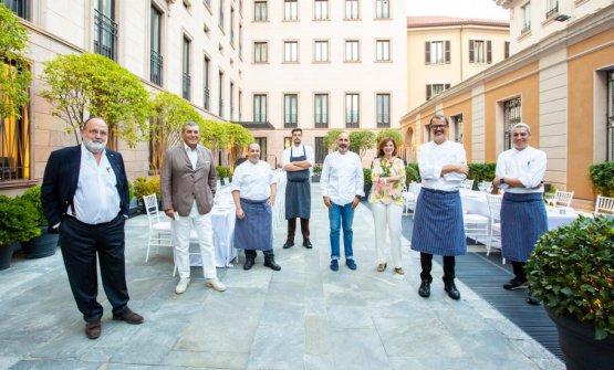 Da sinistra: Paolo Marchi, Claudio Ceroni, Nicola Di Lena, Simone Maurelli, Andrea Ribaldone, Laura Borghetto (presidentessa L'abilità), Antonio Guida,Federico Dell'Omarino