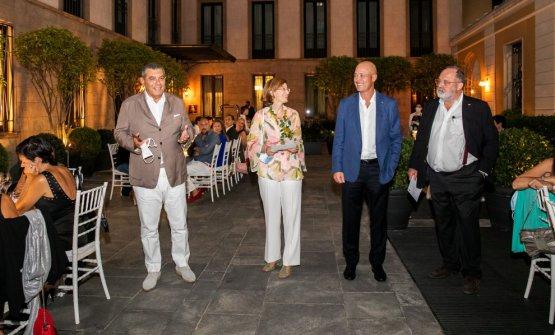 Da sinistra, Claudio Ceroni, Laura Borghetto, Luca Finardi e Paolo Marchi