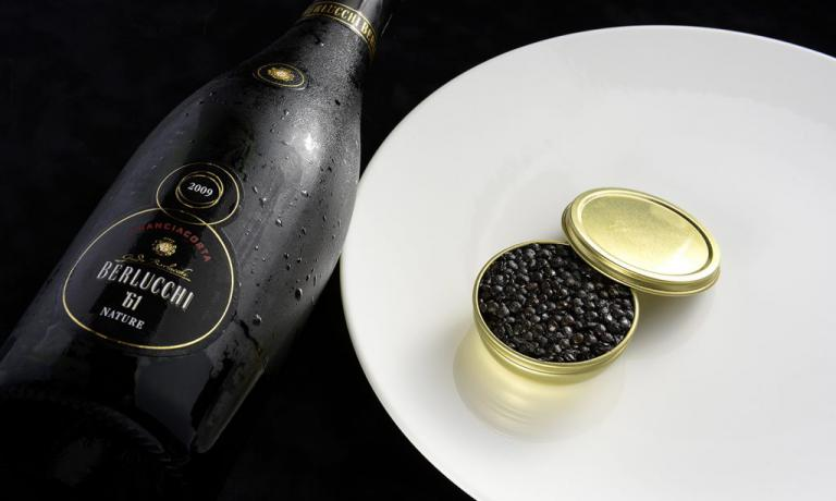 Nature '61 2009 - Pas Dosé by Berlucchi will be matched, in a special dinner in New York, with Massimo Bottura's starter Una Lenticchia meglio del caviale,