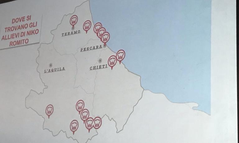 La mappa dei locali aperti in Abruzzo dai