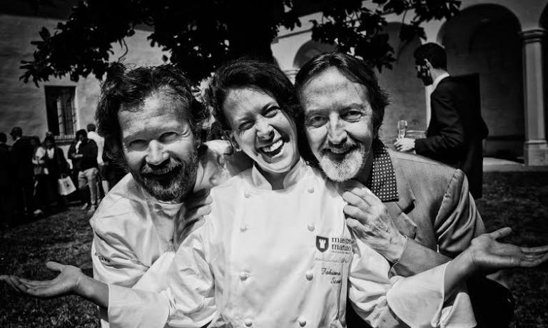 Faby Scarica con Carlo Cracco e il fotografo Giova