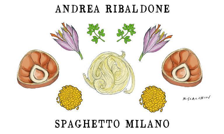 Il gastro-illustratore Gianluca Biscalchin ha disegnato così il piatto di Ribaldone