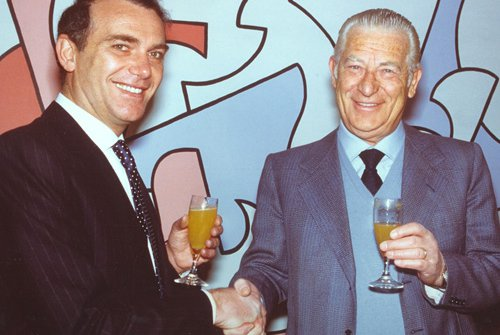 Pellegrini nel 1984, quando acquistò l'Inter da Ivanoe Fraizzoli