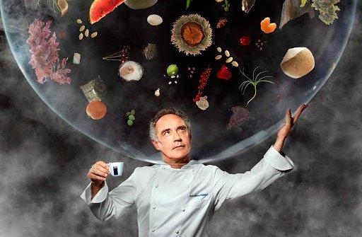 Una celebre foto di Ferran Adrià, tratta dal Cale