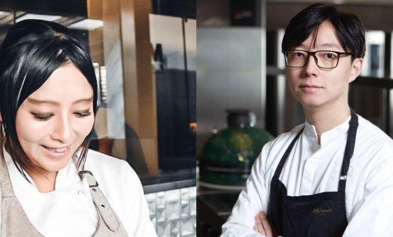 Chang Liu e Jun Giovannini, nuovi chef rispettivam