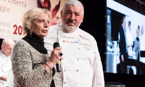 Renata Fugazzi e Umberto Bombana. Lo chef tristell