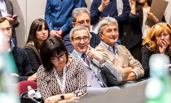 Riccardo Felicetti soddisfatto in platea