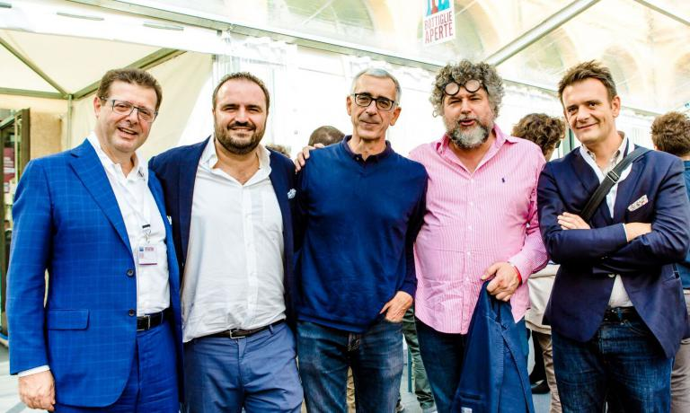 Orazio Vagnozzi, Federico Gordini, Pier Bergonzi,Andrea Grignaffini ePierluigi Gorgonia Bottiglie Aperte 2016