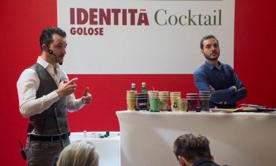 Flavio AngiolilloeFrancesco Bonazzi a Identità Cocktail 2017