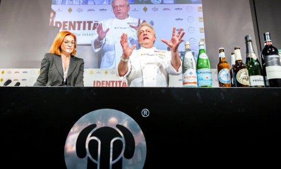 Eleonora Cozzella con Davide Scabin
