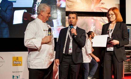 Iginio Massari con Igor Maiellano, di Valrhona Italia