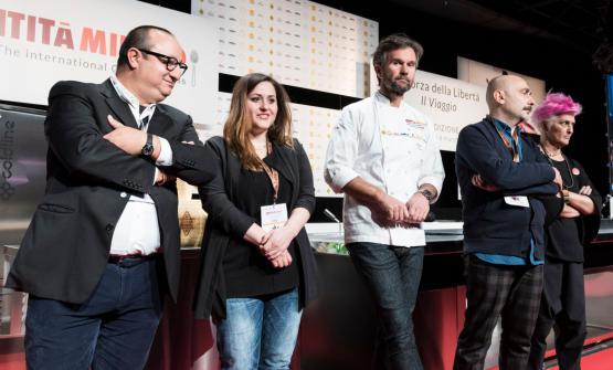 La giuria della selezione italiana per il S.Pellegrino Young Chef 2018. Anthony Genovese farà anche da mentore per l'ìalfiere tricolore: ci spiega i suoi suggerimenti per arrivare in finale e trionfare (le foto sono Brambilla-Serrani)