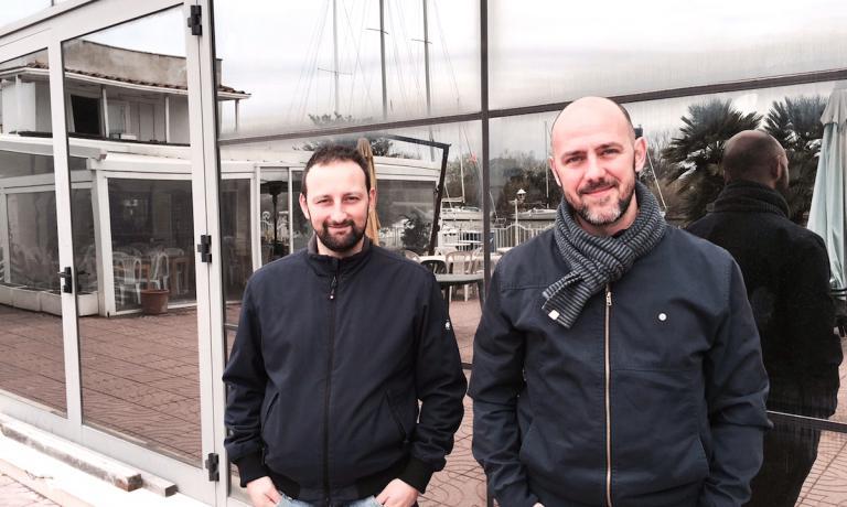 Claudio Bronzi e Daniele Lele Usai davanti alla nu
