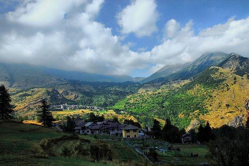 Vista panoramica della Val Chisone