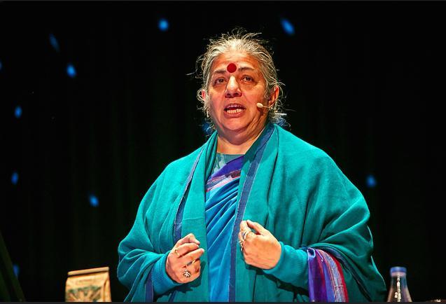 """Vandana Shiva, attivista e ambientalista indiana.Nel 1993 ha ricevuto il Right Livelihood Award, sorta di """"Premio Nobel alternativo"""""""