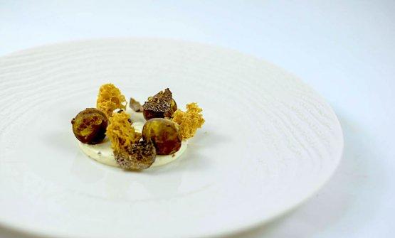 Tartufo, topinambur, nocciola e cioccolato bianco