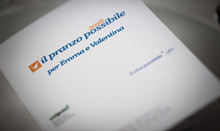 Il 25 luglio scorso a Borgo Egnazia seconda edizione dell'iniziativa volta a raccogliere fondi per aiutare bimbi che ne hanno bisogno, come Emma e Valentina. Il Pranzo Possibile è stato un successo, ha raccolto 12mila euro