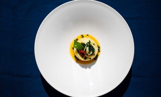 """Spaghettone di Gragnano al """"pomodoro in bianco�"""