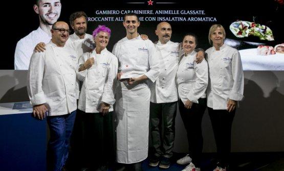 Fumagalli con la giuria alla premiazione della finale italiana