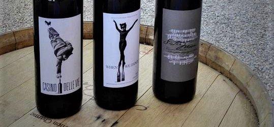Tre dei vini dell'azienda di Sting e Trudie