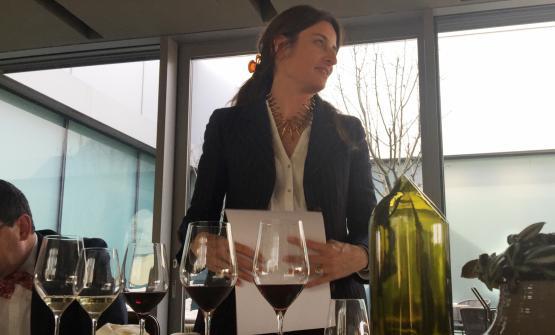 Ottavia Giorgi di Vistarino alla presentazione dei suoi vini al ristorante di Enrico Bartolini al Mudec