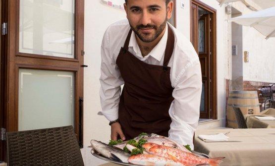 Vito Battaglia e il pescato del giorno