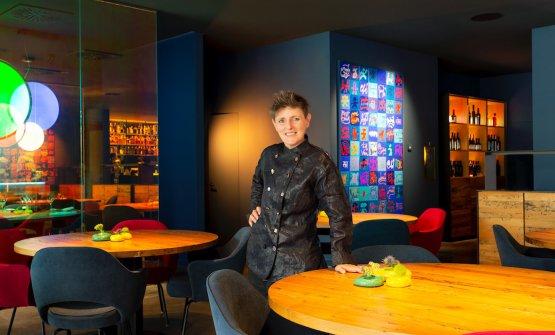 La chef Viviana Varese nella sala del suo ViVa (foto di Sonia Marin)