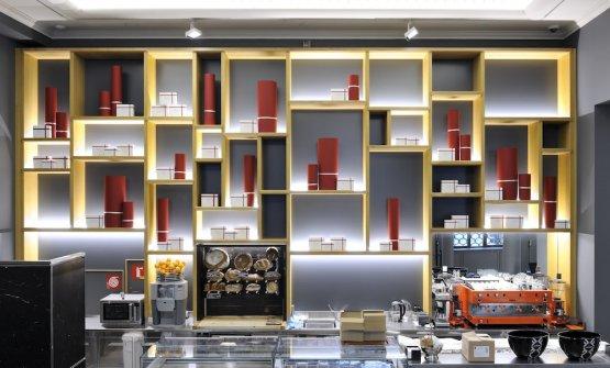 Il bancone della caffetteria
