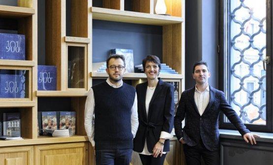 Alessandro Negrini, Stefania Moroni e Fabio Pisani all'inaugurazione diVòce