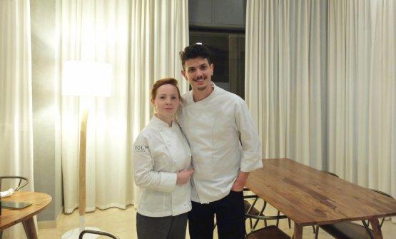 Olexandra Marfiae Lorenzo Vecchia, giovani chef-patron del Volm di Pozzolo Martesana, alle porte di Milano