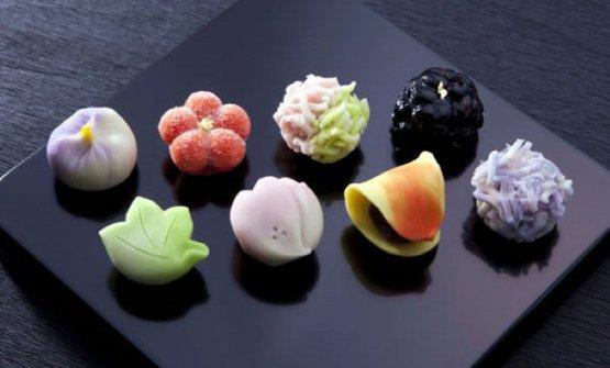 Un esempio di Wagashi, ovvero i dolci tradizionali