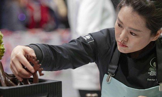 La sorpresa del World Chocolat Masters 2018 è stata la coreana Eun-Hye Kim. quinta assoluta