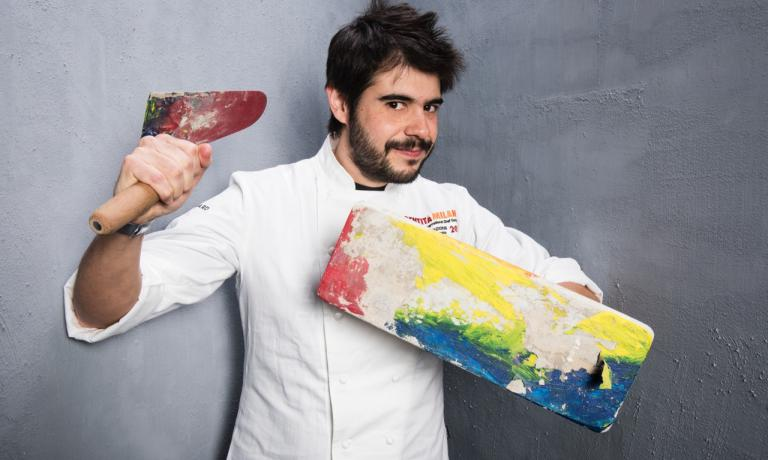 Roberto Flore, Sardinian, from Seneghe, head chef at the Nordic Food Lab (photo credits Brambilla/Serrani)