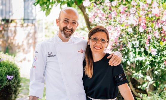 Senio Venturiassieme a Elisa Bianchini, moglie dello chef e coordinatrice di sala e cantina