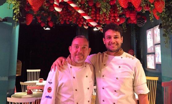 Maicol Izzo con Albert Adrià. Lo chef del Piazzet