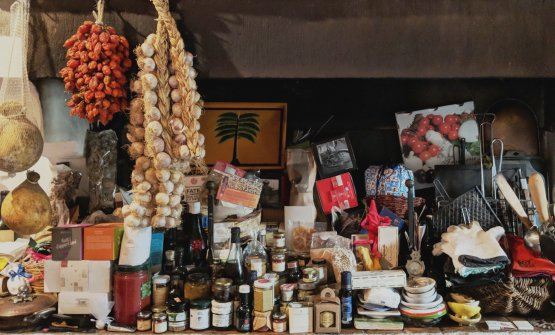 Particolare della dispensa domestica di Faith Willinger a Firenze (fotowww.faithwillinger.com)