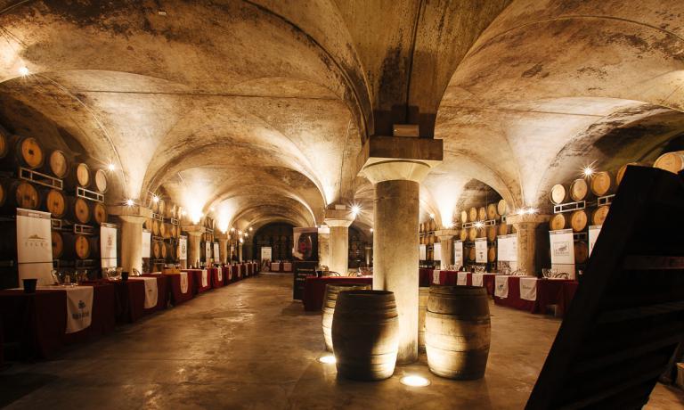 The historic cellars of Villa Sparina