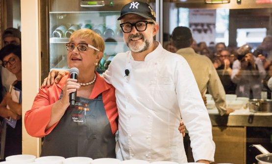 Lidia Bastianich and Massimo Bottura