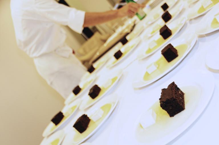 Zuccherino, dessert servito da Pietro Leemann