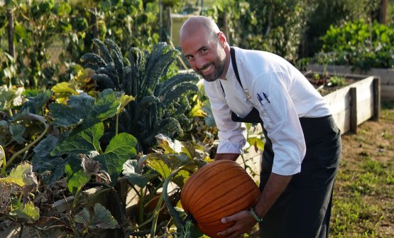 Lo chef nell'orto