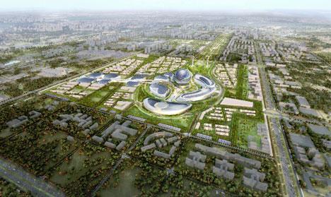 Il rendering di Astana 2017:25 ettari di polo espositivo, 100 paesi e 7 milioni di visitatori previsti in 3 mesi