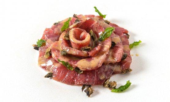 """Carpaccio di tonno rosso siciliano affumicato """"�"""