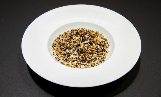 Semi tostati, mirtilli, profumo di caffè e riso, di Davide Oldani